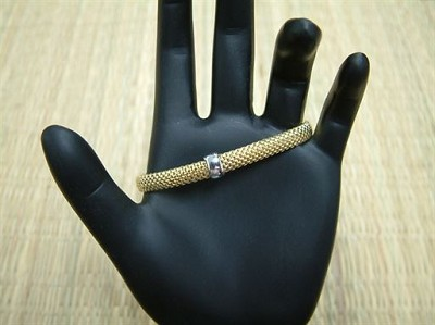 Gold Plated Italian Stretch Mesh Bracelet 7 inches