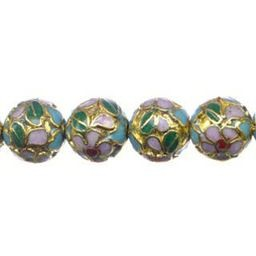 Cloisonne Beads Gold each