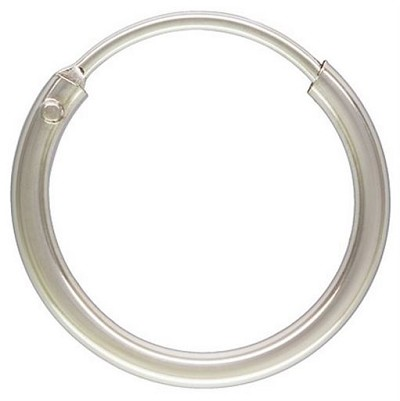 Sterling Silver 1.25x12mm Endless Hoop Earrings - 1 pair