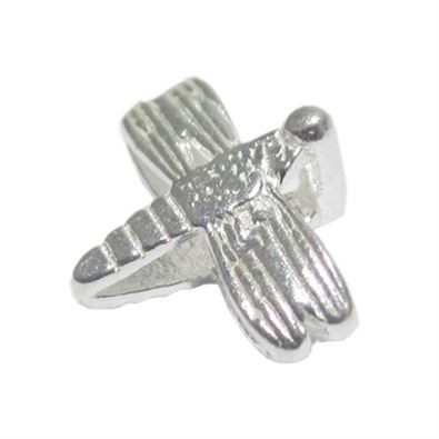 7mm Sterling Silver Dragonfly Beads