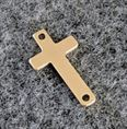 9.3x16.8mm Gold Filled Sideways Cross Charm
