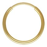 Gold Filled Endless Hoop Earrings - 1.25x16mm