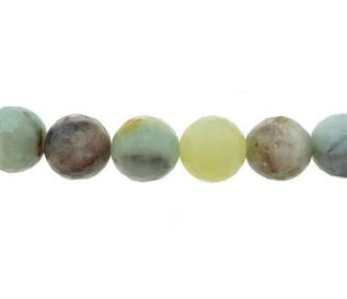 Black Cloudy Amazonite Faceted Beads 16