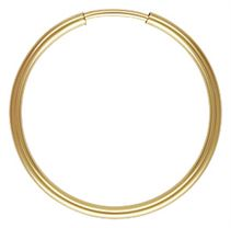 Gold Filled Endless Hoop Earrings - 1.25x20mm