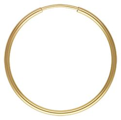 Gold Filled Endless Hoop Earrings - 1.25x24mm