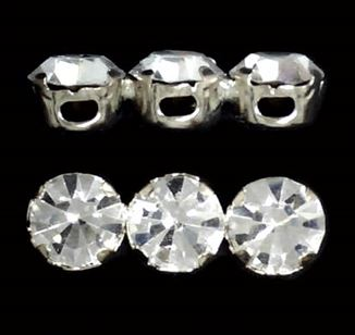 Sterling Silver 3-hole Crystal Spacer Bars 5.5x16mm