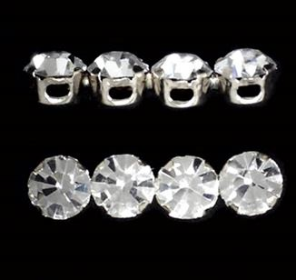 Sterling Silver 4-hole Crystal Spacer Bars 5.5x22mm