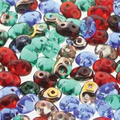Superduo Beads 2.5x5mm Crown Jewels Mix - Apprx 24GM/TB