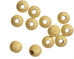 Clearance - 3mm Gold Filled Stardust Beads - Large Hole .065