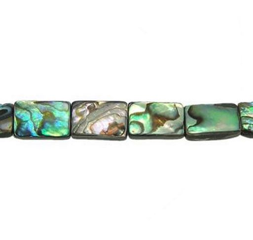 8x12mm Abalone Shell Rectangle Beads - 16