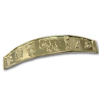 Gold Filled Good Luck Plate (bracelet bar)