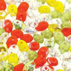 Superduo Beads 2.5x5mm Citrus Infusion Mix - Apprx 24GM/TB