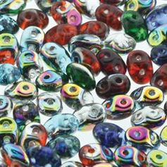 Superduo Beads 2.5x5mm All That Glitters Mix - Apprx 24GM/TB