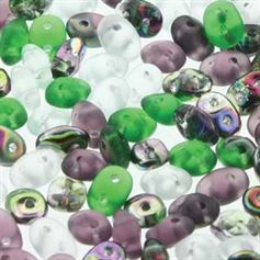 Superduo Beads 2.5x5mm Fluorite Mix - Apprx 24GM/TB