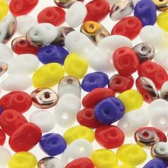 Superduo Beads 2.5x5mm Circus Circus Mix - Apprx 24GM/TB