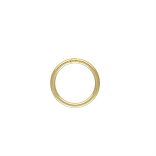 6mm Gold Filled 22 ga. Closed Jump Rings (25 pcs.)