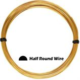 Gold Filled Half Round Wire