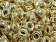 7.1x3.6mm Gold Filled Glitter Roundel Beads
