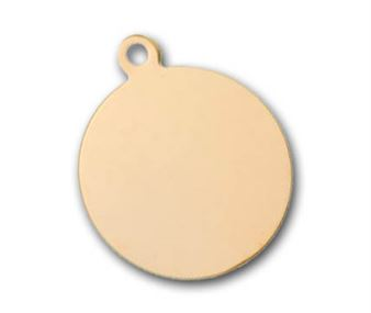 6mm Gold Filled Round Charm Blank - 24 ga.