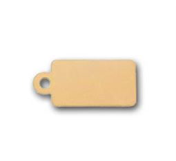 10x5mm Gold Filled Tag Charm Blank - 24 ga.