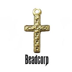 15x8.5mm Gold Filled Cross Charm