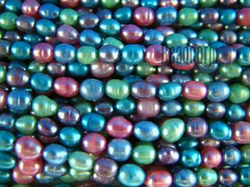 5-5.5mm Multi Color Fresh Water Potato Pearls