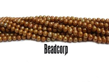 4-4.5mm Copper Fresh Water Pearls 15