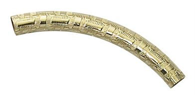 4X35 Gold Filled Curved Pattern Tube #0512A