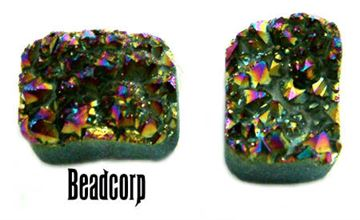 15x20mm Rainbow Druzy Pillow Cabochon