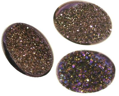 Mystic Purple Titanium Coated Drusy Agate Cabochons - (choose size)