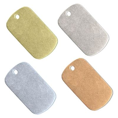 30x16.5mm Dog Tag Stamping Blank
