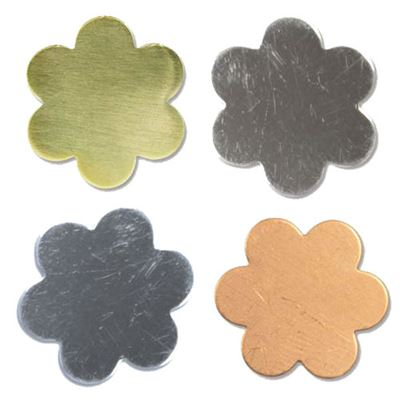 16mm Six Petal Flower Stamping Blank