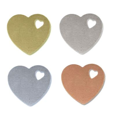 16x12mm Heart Stamping Blank