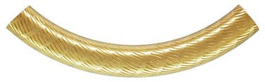 5x38mm Gold Filled Curved Pattern Tube