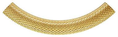 5x38mm Gold Filled Curved Pattern Tube Beads