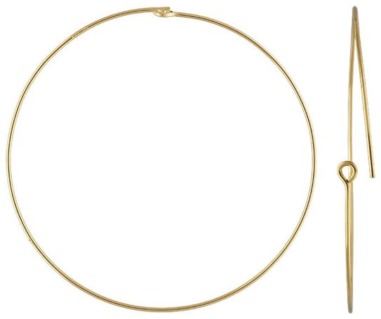 45mm Gold Filled Beading Hoops (1 pair)  14/20kt.