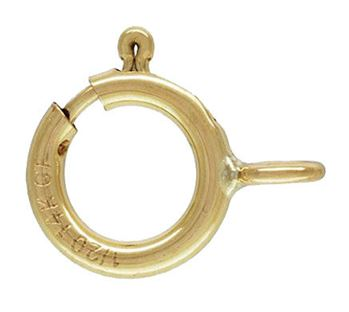 5.5mm Gold Filled Spring Ring Clasp w/ Closed Ring 14/20kt.