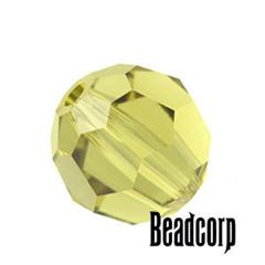 Swarovski 5000 Round Crystal Beads - Lime