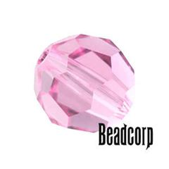 Swarovski 5000 Round Crystal Beads - Light Rose