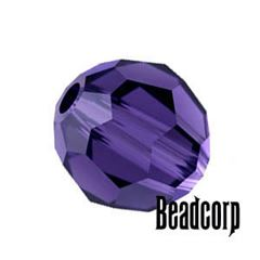 Swarovski 5000 Round Crystal Beads - Purple Velvet
