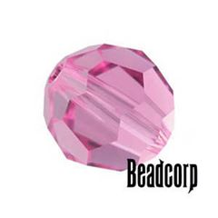 Swarovski 5000 Round Crystal Beads - Rose