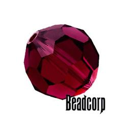 Swarovski 5000 Round Crystal Beads - Ruby