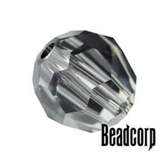 Swarovski 5000 Round Crystal Beads - Silver Night