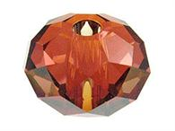 18mm Swarovski Large Hole Rondelles 5041--red magma