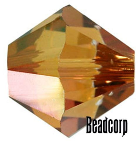 Swarovski 5301 / 5328 Bicone Beads - Crystal Copper