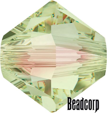 Swarovski 5301 / 5328 Bicone Beads - Crystal Luminous Green