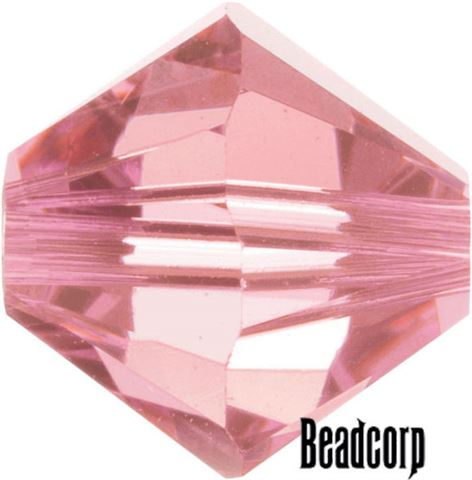 Swarovski 5301 / 5328 Bicone Beads - Rose Light
