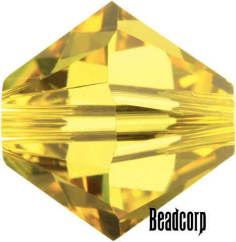 Swarovski 5301 / 5328 Bicone Beads - Topaz Light