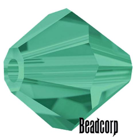 Swarovski 5301 / 5328 Bicone Beads - Emerald Medium