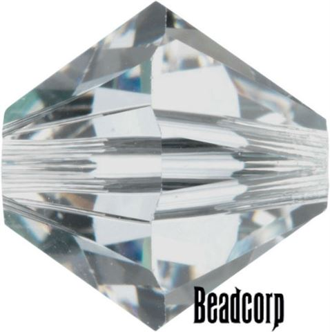 Swarovski 5301 / 5328 Bicone Beads - Shadow Crystal